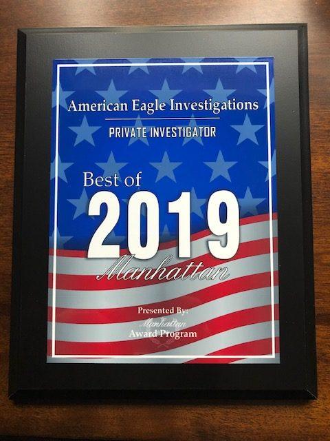 award winning private investigator 2019 american eagle investigations
