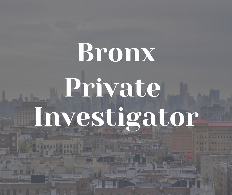 Bronx Private Investigator american eagle